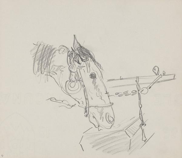 Arnold Peter Weisz-Kubínčan – Skicár 14 Pijúci kôň