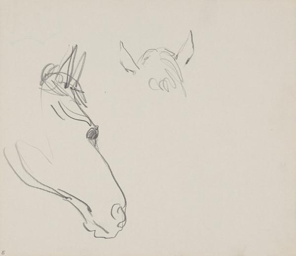 Arnold Peter Weisz-Kubínčan – Skicár 14 Náčrt koňa