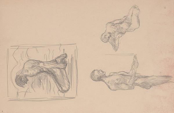 Arnold Peter Weisz-Kubínčan – Skicár 15 Tri skice postáv