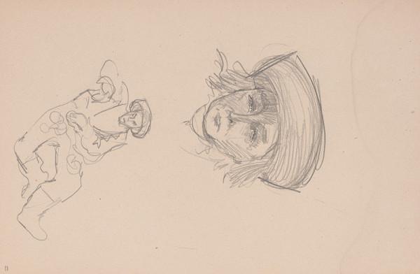 Arnold Peter Weisz-Kubínčan – Skicár 15 Tvár a postava v klobuku
