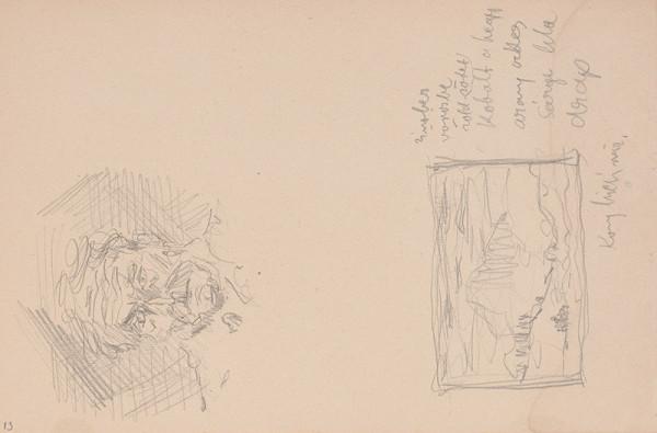 Arnold Peter Weisz-Kubínčan – Skicár 15 Tvár a skica krajiny