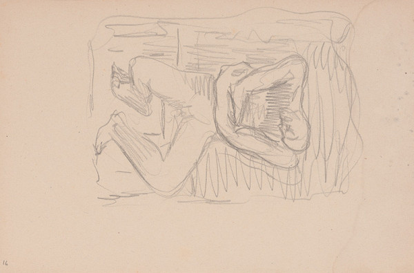 Arnold Peter Weisz-Kubínčan – Skicár 15 Muž so zovretým náručím
