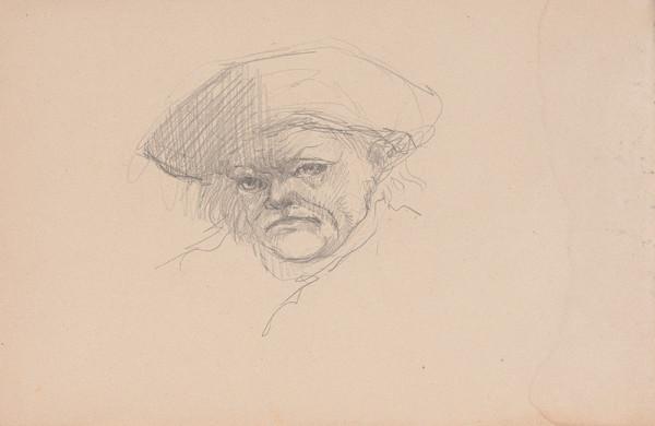 Arnold Peter Weisz-Kubínčan – Skicár 15 Tvár v klobúku
