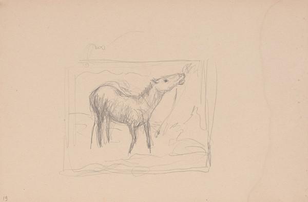 Arnold Peter Weisz-Kubínčan – Skicár 15 Kôň