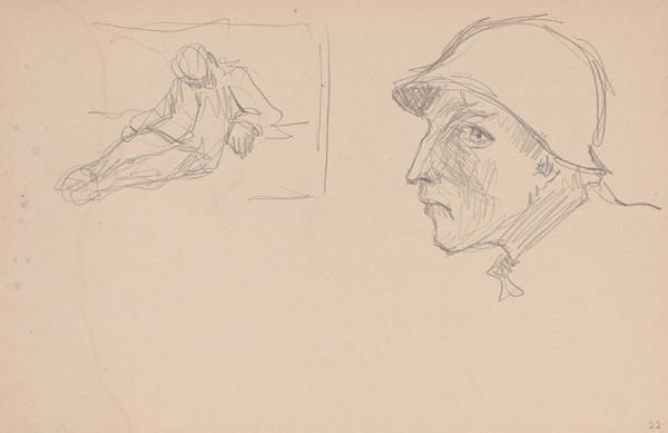 Arnold Peter Weisz-Kubínčan – Skicár 15 Muž v klobúku