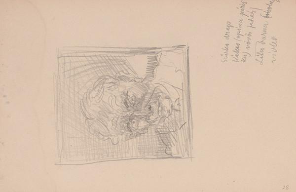Arnold Peter Weisz-Kubínčan – Skicár 15 Portrét muža s poznámkami