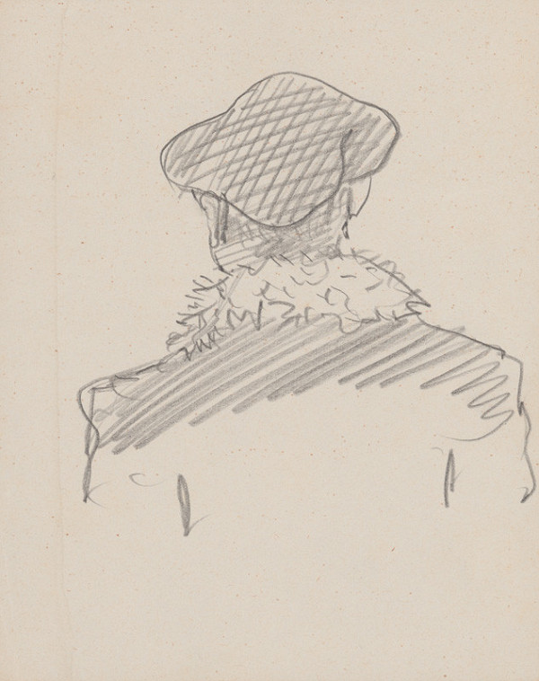 Arnold Peter Weisz-Kubínčan – Skicár 15 Postava v čiapke zo zadu