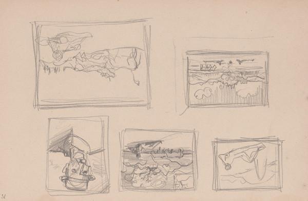 Arnold Peter Weisz-Kubínčan – Skicár 15 Rôzne skice obrazov