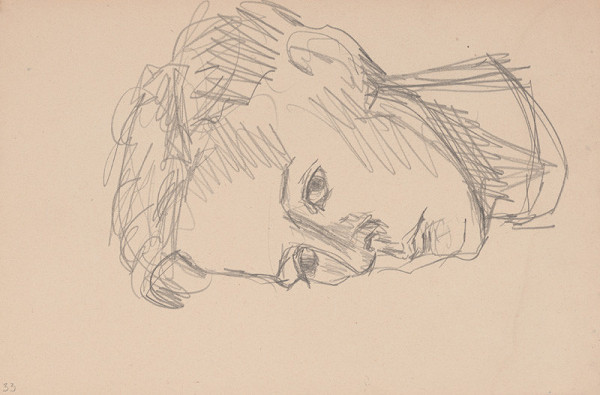 Arnold Peter Weisz-Kubínčan – Skicár 15 Portrét muža