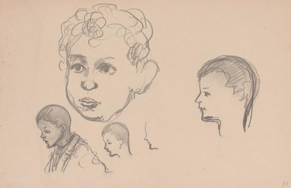 Arnold Peter Weisz-Kubínčan – Skicár 15 Skice detí