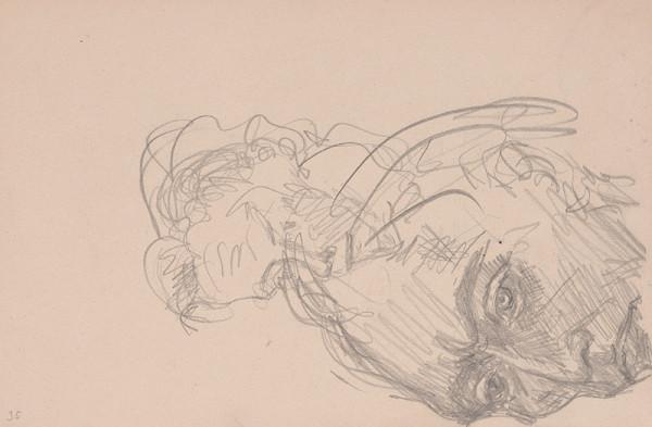 Arnold Peter Weisz-Kubínčan – Skicár 15 Autoportrét