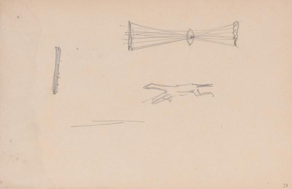 Arnold Peter Weisz-Kubínčan – Skicár 15 Nedokončená skica