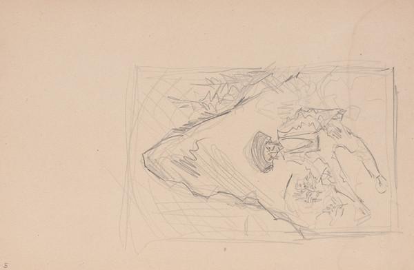 Arnold Peter Weisz-Kubínčan – Skicár 15 Muž sediaci pod bralom