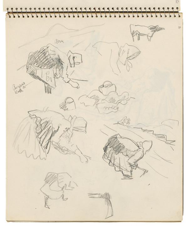 Arnold Peter Weisz-Kubínčan – Skicár 16 Kopáčky a motyka