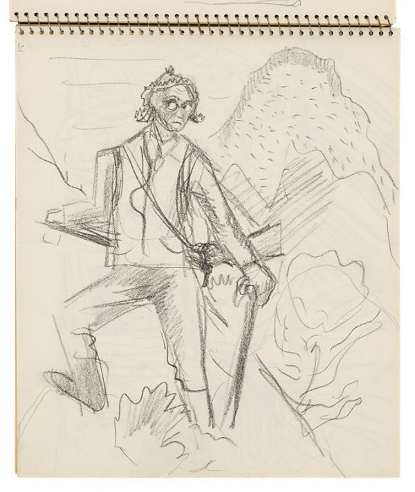 Arnold Peter Weisz-Kubínčan – Skicár 16 Lovec v krajine