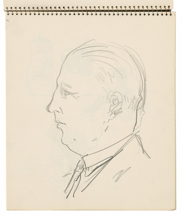 Arnold Peter Weisz-Kubínčan – Skicár 16 Portrét muža