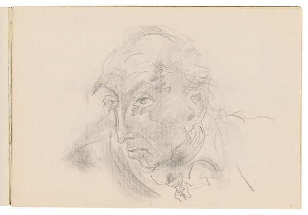 Arnold Peter Weisz-Kubínčan – Skicár 17 Portrét muža