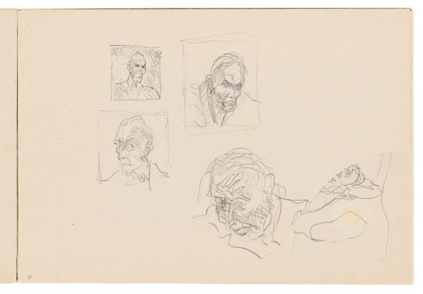 Arnold Peter Weisz-Kubínčan – Skicár 17 Skice portrétov