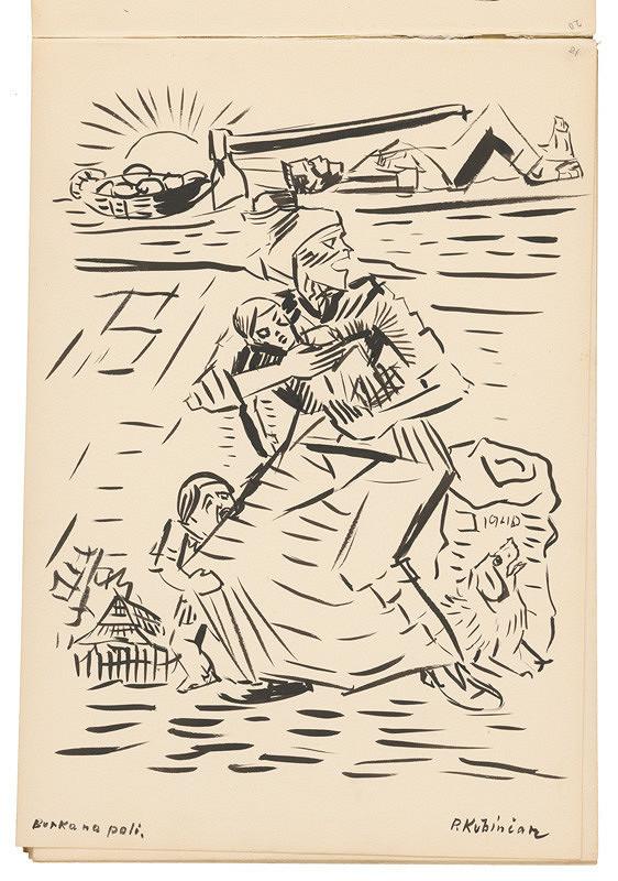 Arnold Peter Weisz-Kubínčan – Skicár 19 Búrka na poli