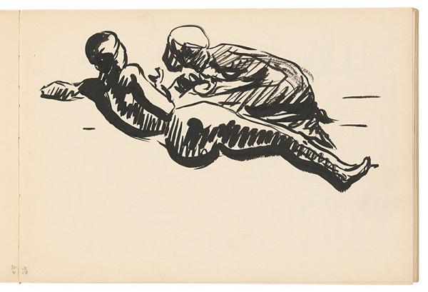 Arnold Peter Weisz-Kubínčan – Skicár 19 Dve ležiace postavy