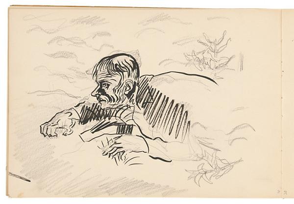Arnold Peter Weisz-Kubínčan – Skicár 19 Plaziaci sa muž