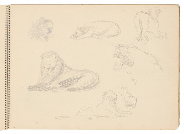 Arnold Peter Weisz-Kubínčan - Skicár 21 Skice leva