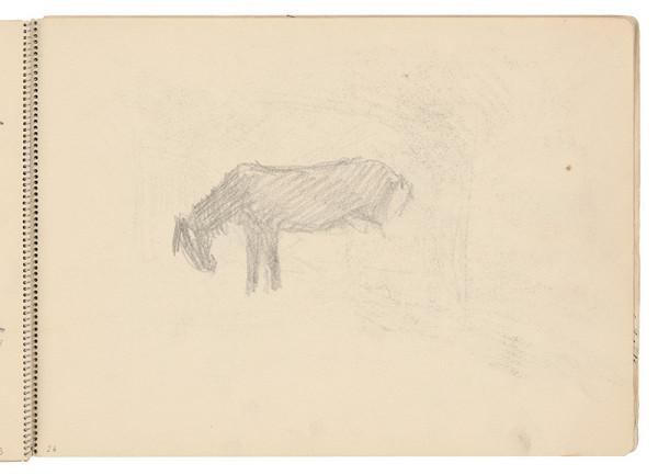 Arnold Peter Weisz-Kubínčan - Skicár 21 Náčrt koňa