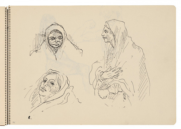 Arnold Peter Weisz-Kubínčan – Skicár 22 Skice žien