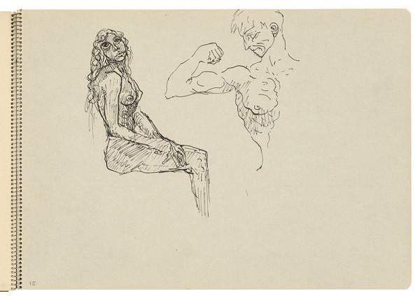 Arnold Peter Weisz-Kubínčan – Skicár 22 Skice ženy a muža