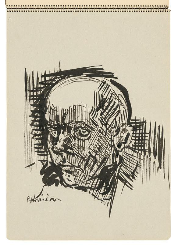 Arnold Peter Weisz-Kubínčan – Skicár 22 Hlava muža