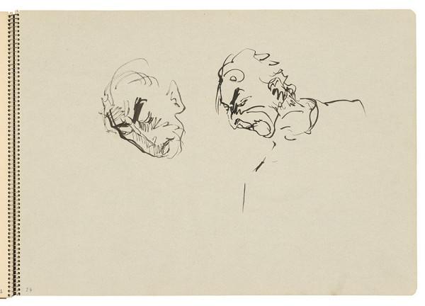 Arnold Peter Weisz-Kubínčan – Skicár 22 Náčrty tvárí