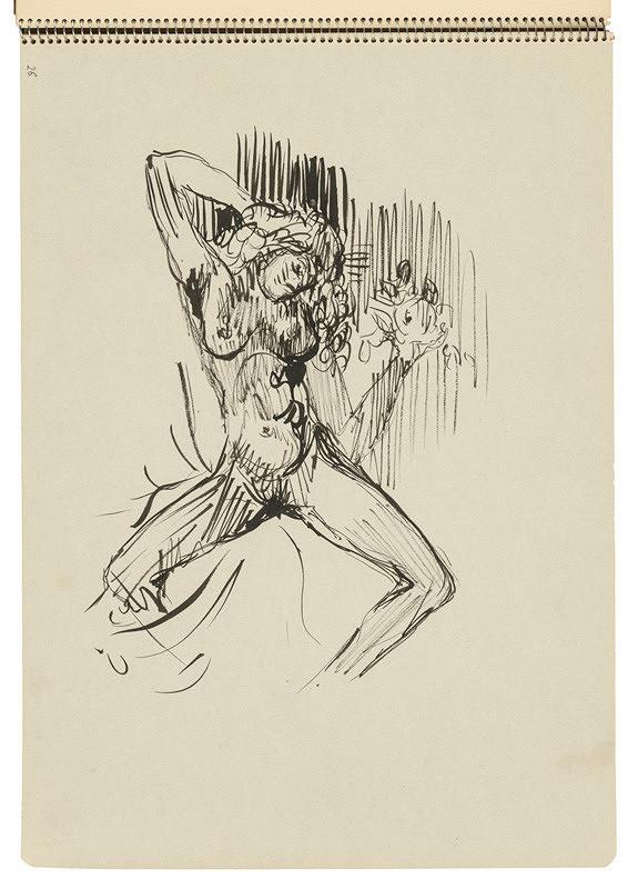 Arnold Peter Weisz-Kubínčan - Skicár 22 Žena s jablkom