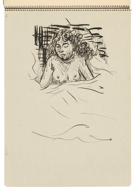 Arnold Peter Weisz-Kubínčan – Skicár 22 Spiaca žena