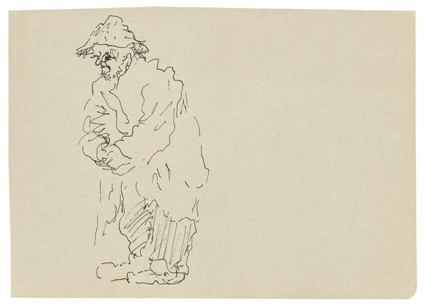 Arnold Peter Weisz-Kubínčan – Skicár 22 Starec (vložený list)