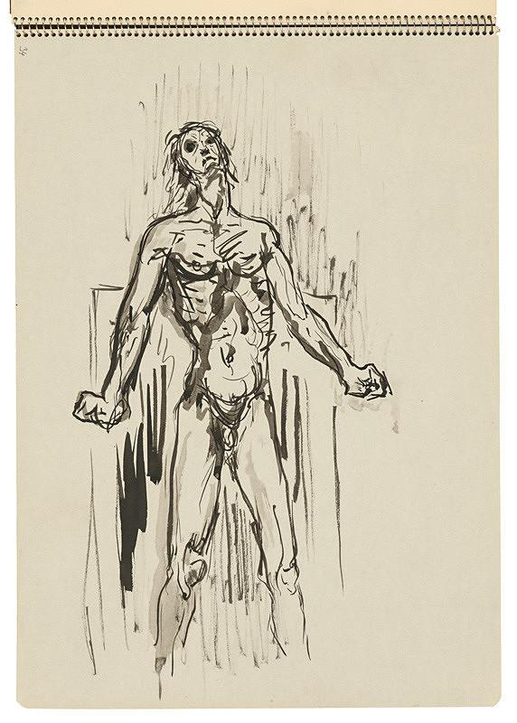 Arnold Peter Weisz-Kubínčan – Skicár 22 Mužská postava