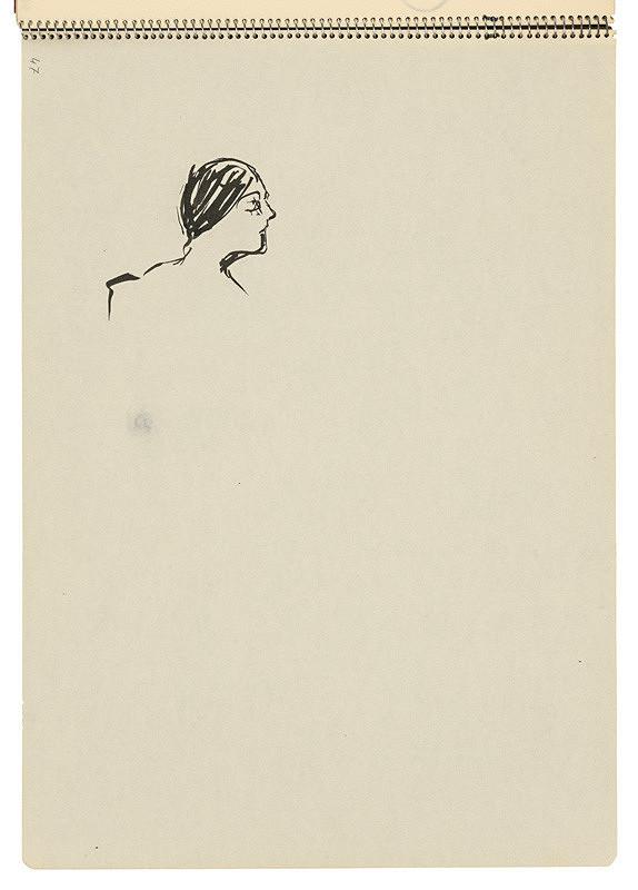 Arnold Peter Weisz-Kubínčan – Skicár 22 Hlava ženy