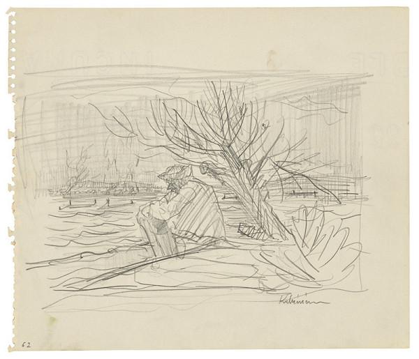 Arnold Peter Weisz-Kubínčan - Skicár 22 Muž pri rieke (vložený list)