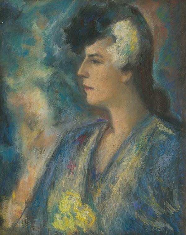 Janko Alexy - Portrét pani Holéciovej
