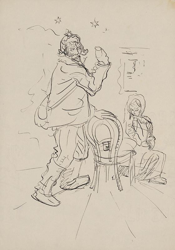 Arnold Peter Weisz-Kubínčan - Muž s pohárom