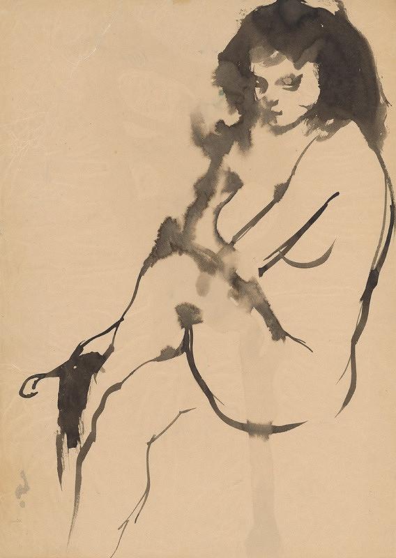 Vincent Hložník – Sediaci ženský akt