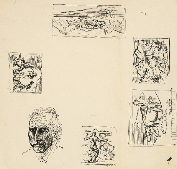 Arnold Peter Weisz-Kubínčan – Rôzne skice