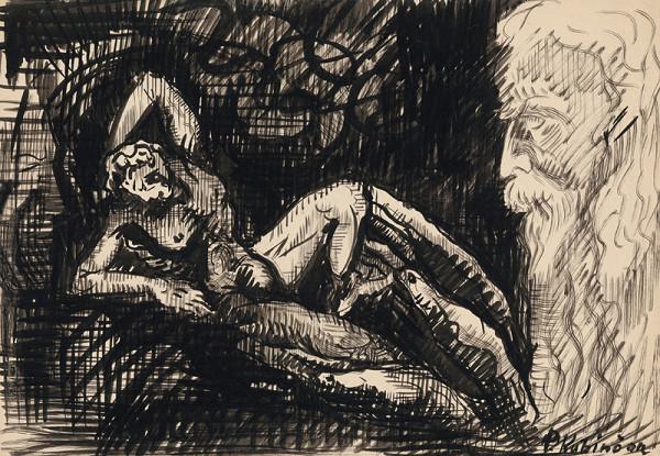 Arnold Peter Weisz-Kubínčan – Starec a žena