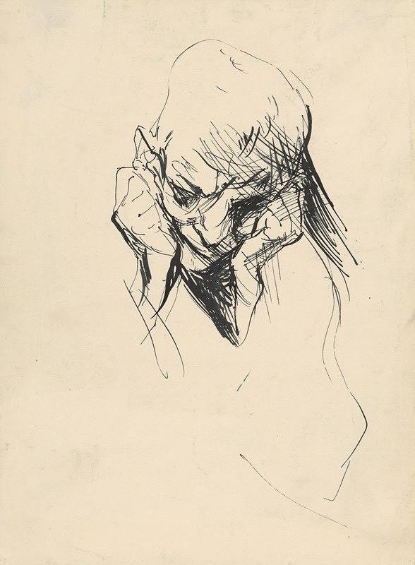 Vincent Hložník – Štúdia hlavy podopretej rukami