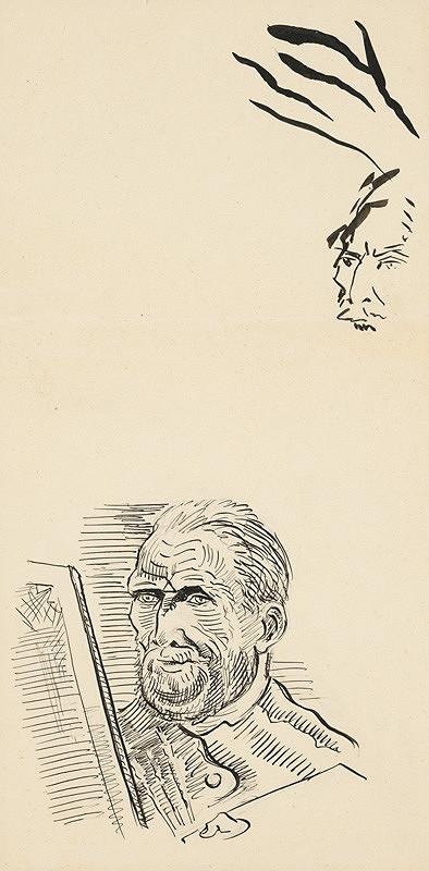Arnold Peter Weisz-Kubínčan – Autoportrét s bradou