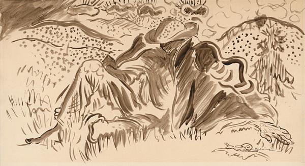 Arnold Peter Weisz-Kubínčan – Odpočívajúci muž v lese