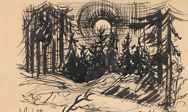 Arnold Peter Weisz-Kubínčan – Západ slnka v lese