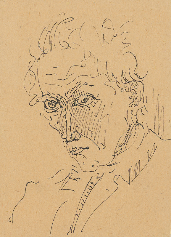 Arnold Peter Weisz-Kubínčan – Autoportrét perom