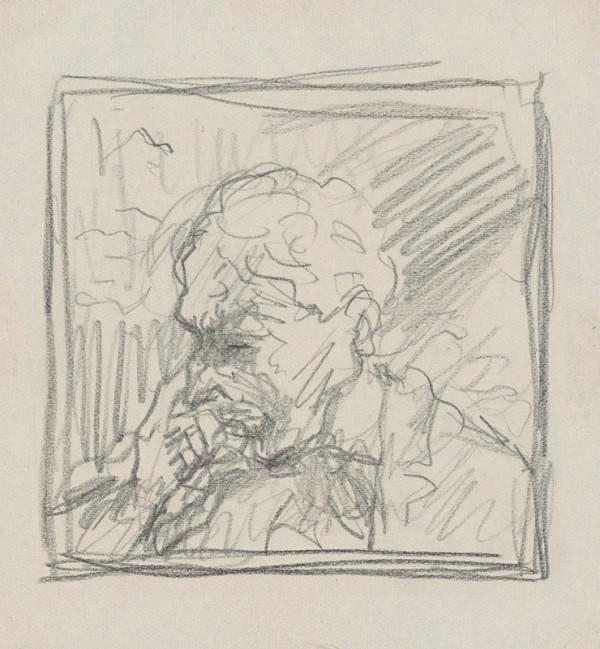 Arnold Peter Weisz-Kubínčan – Autoportrét mäkkou ceruzou