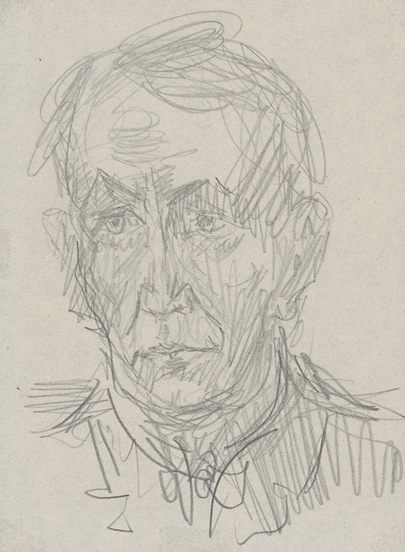 Arnold Peter Weisz-Kubínčan – Autoportrét ceruzou