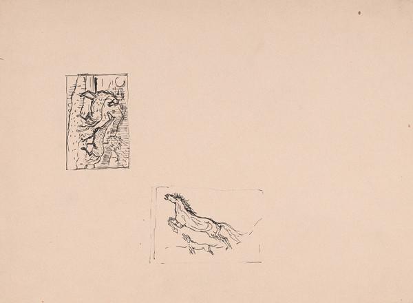 Arnold Peter Weisz-Kubínčan – Rôzne skice koní